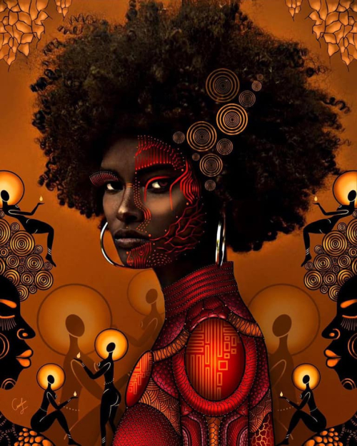 Afrofuture by thickk_east_african_girl digital drawing oin photoo by nicholas.foils